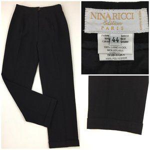 NINA RICCI Edition Paris 100% Wool Dress Pants
